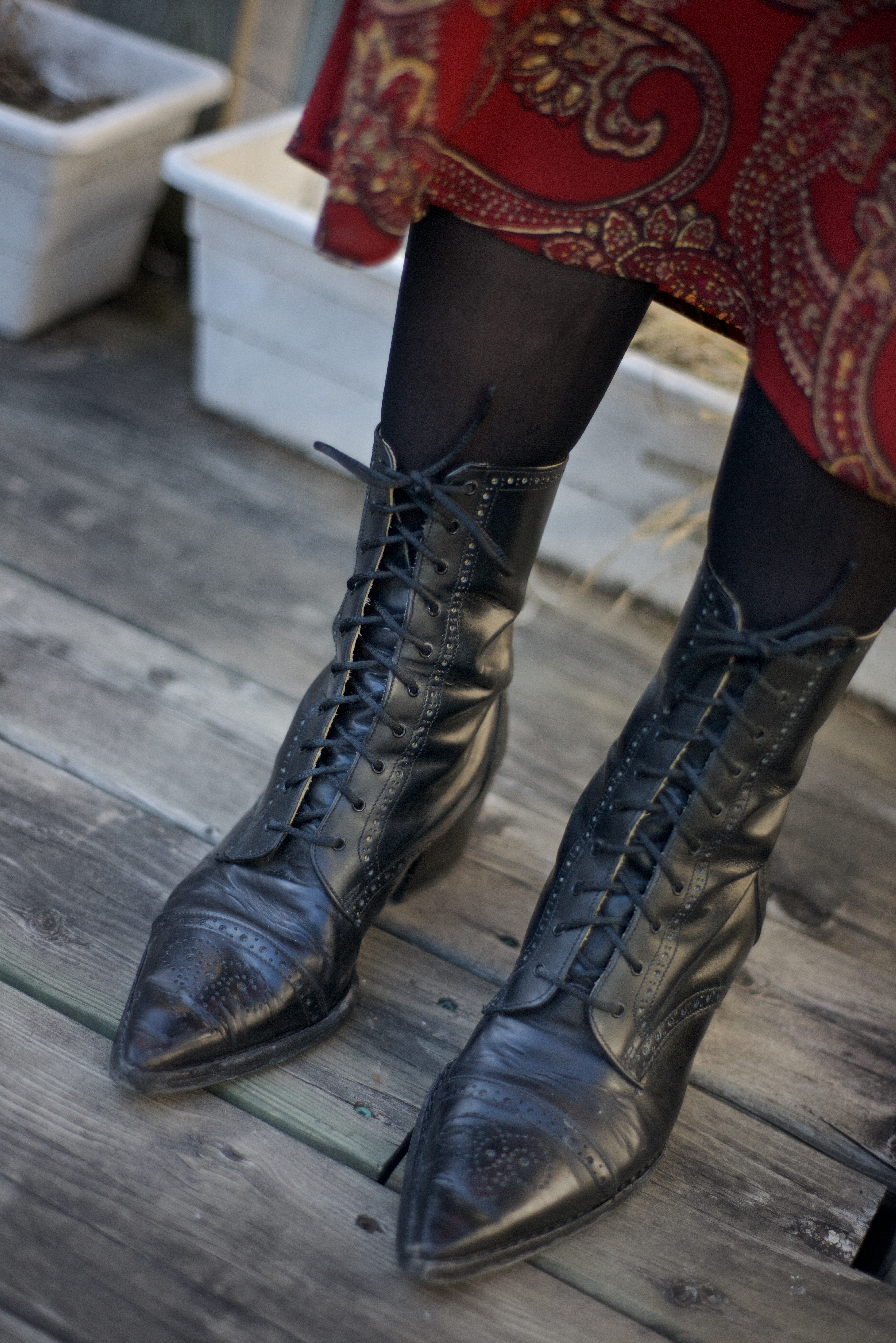 leather boots t a vinyl and fashion